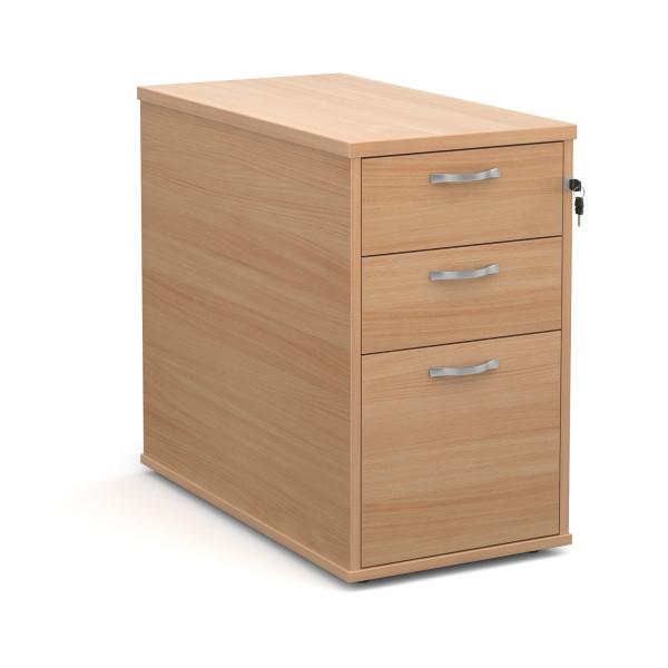 3 drawer economy 800 desk high pedestal - Beech