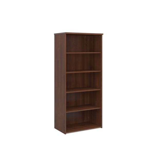 4 Shelf Economy Bookcase - 2000mm- Walnut