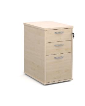 3 drawer 600 economy desk high pedestal - Maple