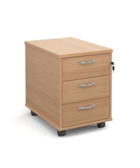 3 drawer economy mobile pedestal - Beech