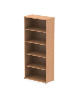 4 Shelf Economy Bookcase - 2000mm - Oak