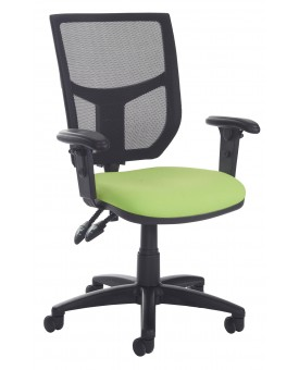 Mesh back operator chair- lime green