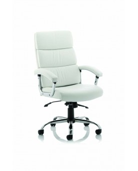 Desire Executive Chair White With Arms With Headrest