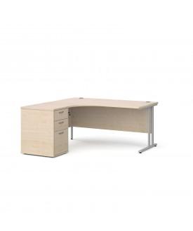 BRAND NEW Corner left handed desk and desk high pedestal set SPECIAL OFFER