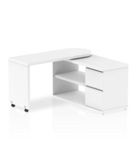 Fleur Smart Storage Desk White- 1300 X 500