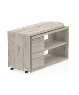 Fleur Smart Storage Desk Grey Oak- 1300 X 500
