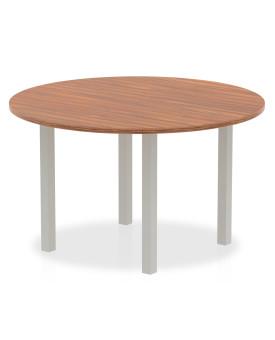 Circular meeting table - 1200mm - Walnut