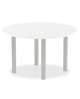 Circular meeting table - 1200mm - White