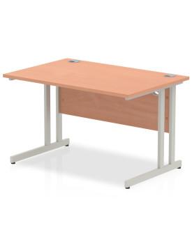 Straight economy desk - 1200mm x 800mm - Beech