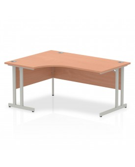 Corner economy desk - 1600mm x 1200mm  Beech - (Left Handed)