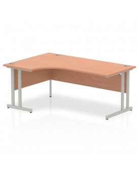 Corner economy desk - 1800mm x 1200mm  Beech - (Left Handed)