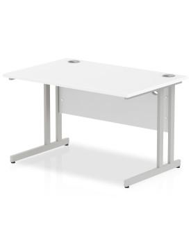 Straight economy desk - 1200mm x 800mm - White