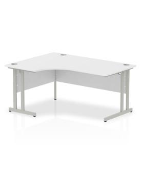 Corner economy desk - 1600mm x 1200mm - White LH