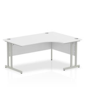 Corner economy desk - 1600mm x 1200mm - White RH