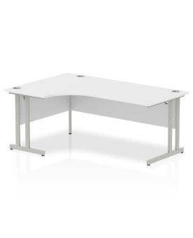 Corner economy desk - 1800mm x 1200mm - White LH