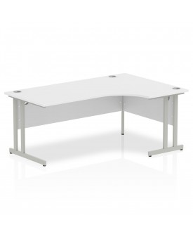 Corner economy desk - 1800mm x 1200mm - White RH