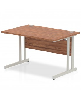 Straight economy desk - 1200mm x 800mm - Walnut