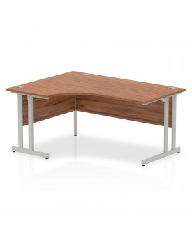 Corner economy desk - 1600mm x 1200mm - Walnut LH