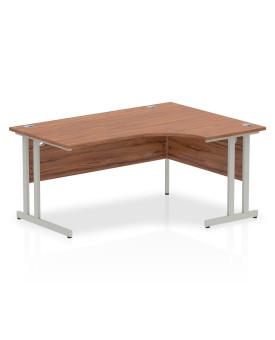 Corner economy desk - 1600mm x 1200mm - Walnut RH