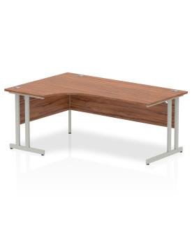 Corner economy desk - 1800mm x 1200mm - Walnut LH