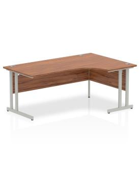 Corner economy desk - 1800mm x 1200mm - Walnut RH