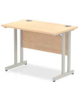 Straight economy desk - 1000mm x 600mm - Maple