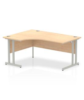 Corner economy desk - 1600mm x 1200mm  Maple - (Left Handed)