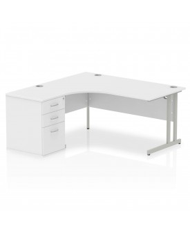 BRAND NEW Corner left handed desk and desk high pedestal set SPECIAL OFFER