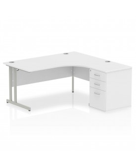 BRAND NEW Corner right handed desk and desk high pedestal set SPECIAL OFFER