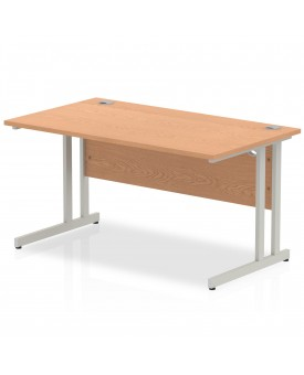 Straight economy desk - 1400mm x 800mm - Oak