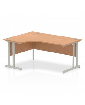 Corner economy desk - 1600mm x 1200mm - Oak LH