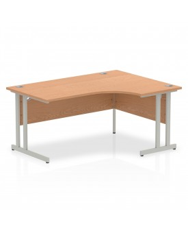 Corner economy desk - 1600mm x 1200mm - Oak RH
