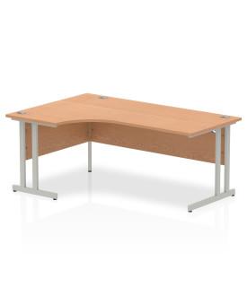 Corner economy desk - 1800mm x 1200mm - Oak LH