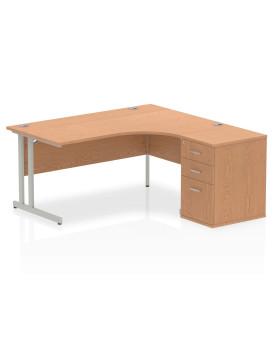BRAND NEW Corner right handed desk and desk high pedestal set SPECIAL OFFER