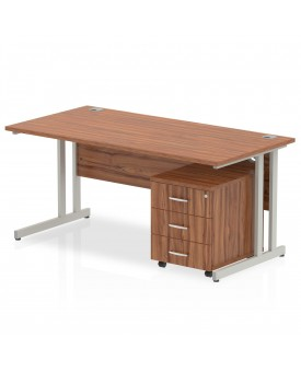 BRAND NEW Straight economy desk set with pedestal - 1400mm x 800mm- SPECIAL OFFER