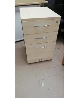 Maple desk high pedestal- 530