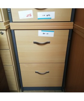 Beech two drawer filing cabinet