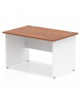 Straight economy desk - 1400mm x 800mm - Two tone panel end- CHOICE OF COLOUR