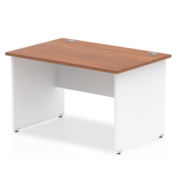 Straight economy desk - 1200mm x 800mm - Two tone panel end- CHOICE OF COLOUR