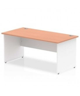 Straight economy desk - 1600mm x 800mm - Two tone panel end- CHOICE OF COLOUR