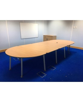 Beech meeting table- 4200 x 1600