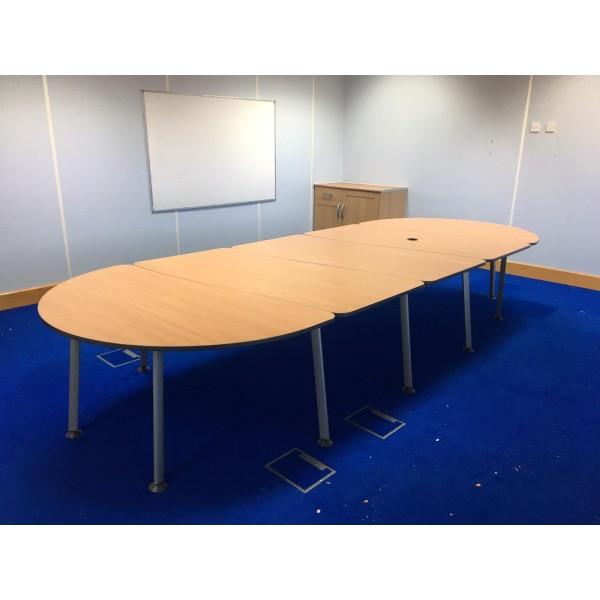 Beech meeting table- 4200 x 1600