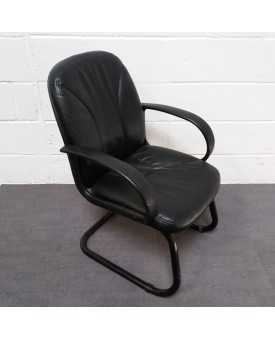 Black leatherette meeting chair