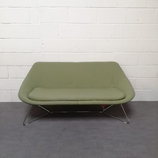 Green reception sofa