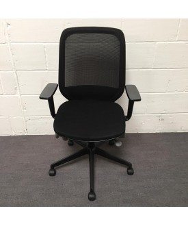 Orangebox Black Task Chair Mesh Back
