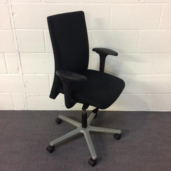 Black Operator Chair- adjustable arms