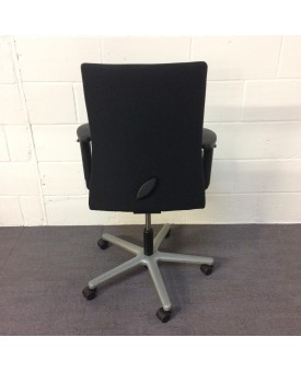 Black Operator Chair- adjustable arms