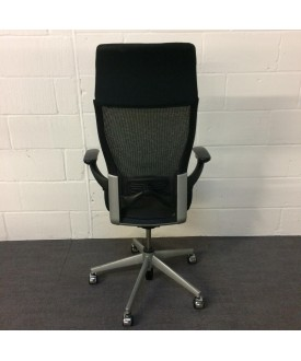 Black Operator Chair- High Back