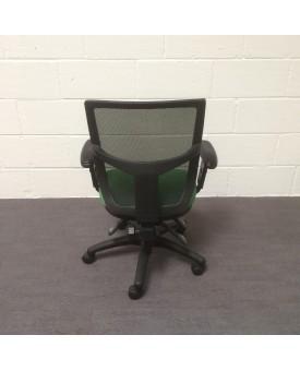 Mesh back operator chair- green
