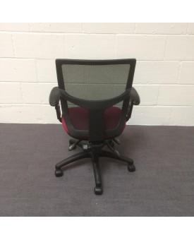Mesh back operator chair- burgundy